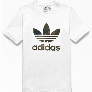 Adidas Camo White Tee Shirt Large